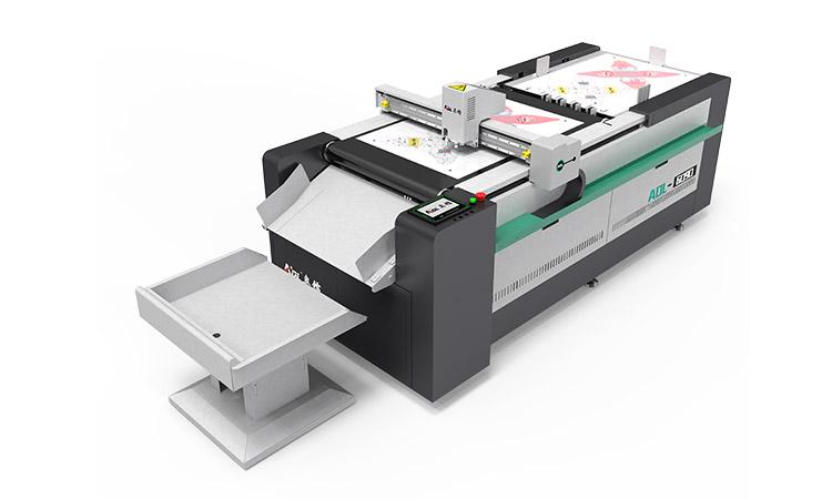 Die cutting machine for a carton box