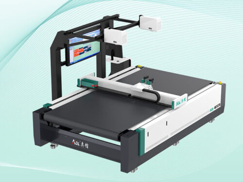 Oscillating knife cutting machine
